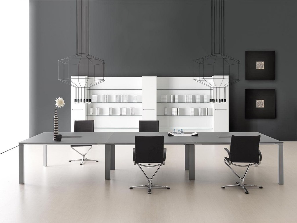Modern Office Furniture Miami Dark Wall