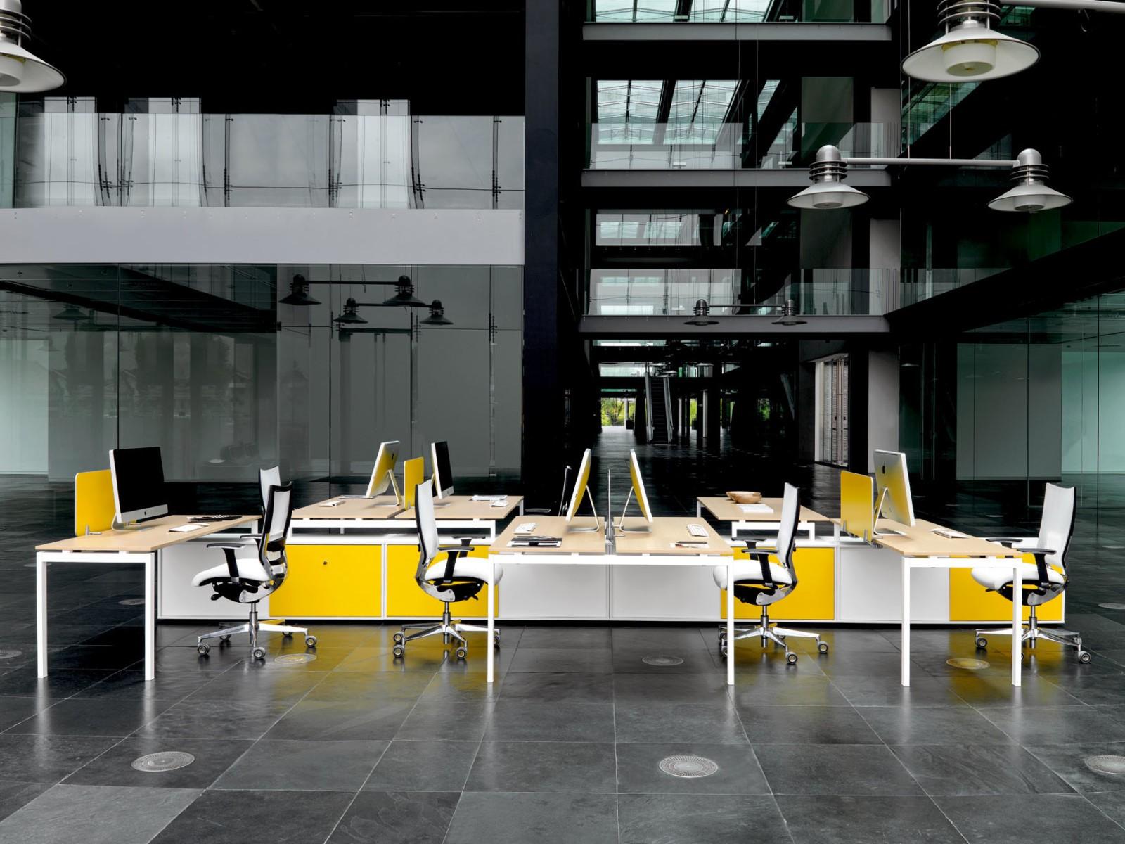 Yellow workspace