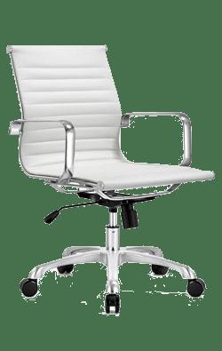 big white executive chair