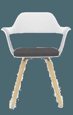 Chair white black wood