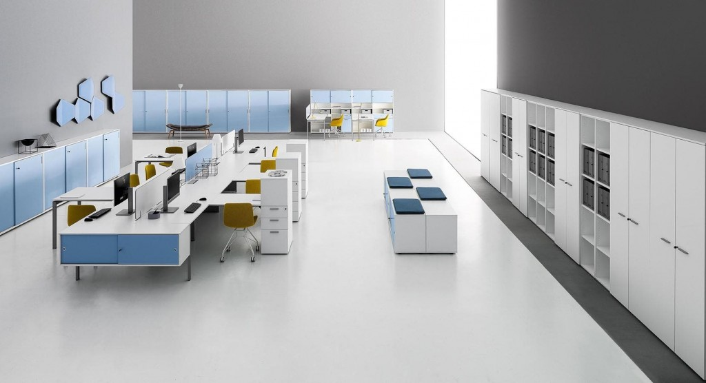 Modern blue office