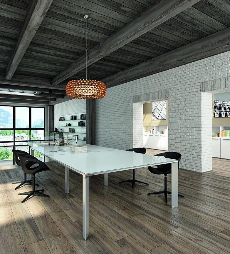 brick wall meeting room