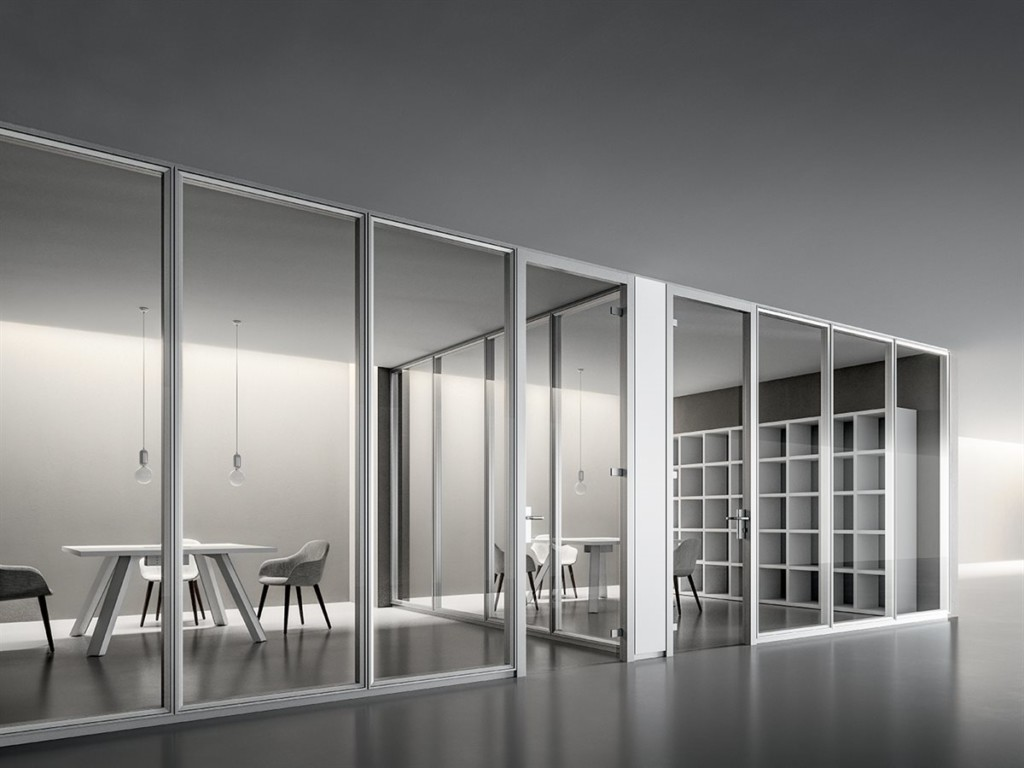 Partitions - White with glass