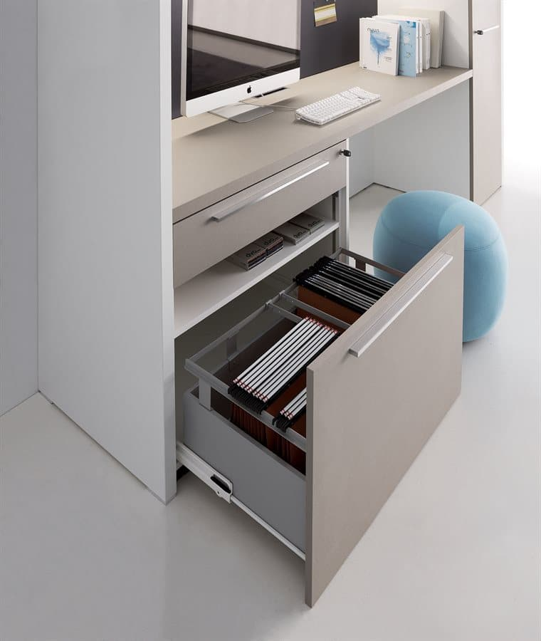 Miami Modern Office Furniture Storage Wall Unit