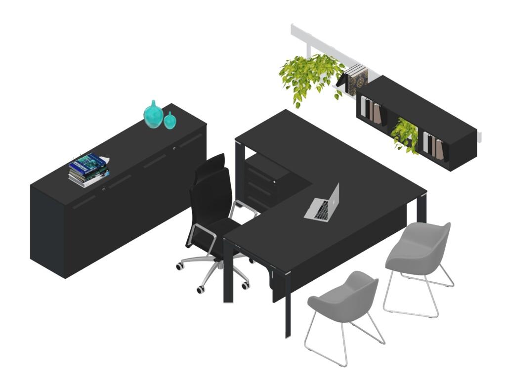 operative black desk